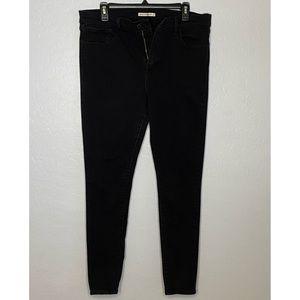 Black Levi's 720 High Rise Skinny Women's Jeans